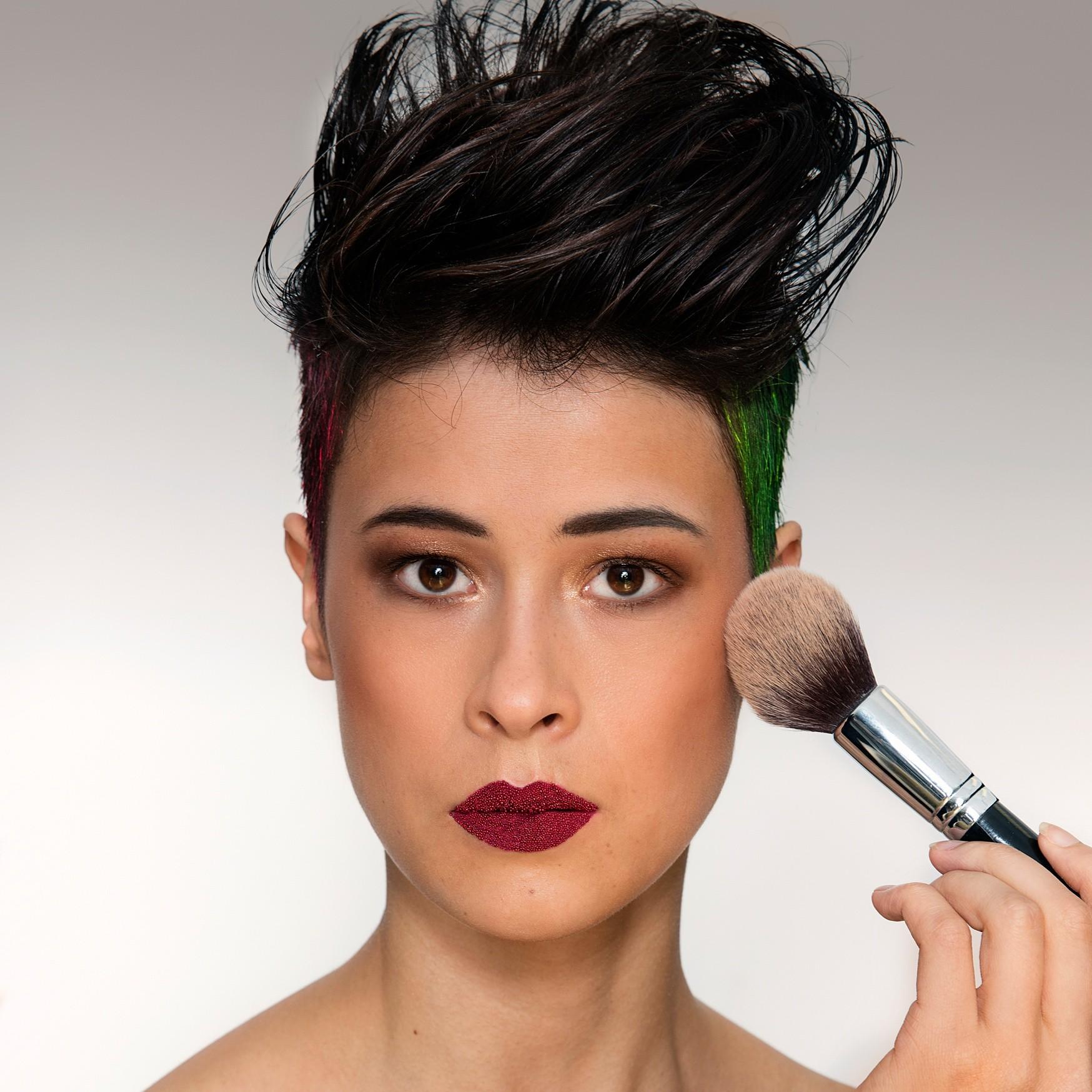 Make up shoot model